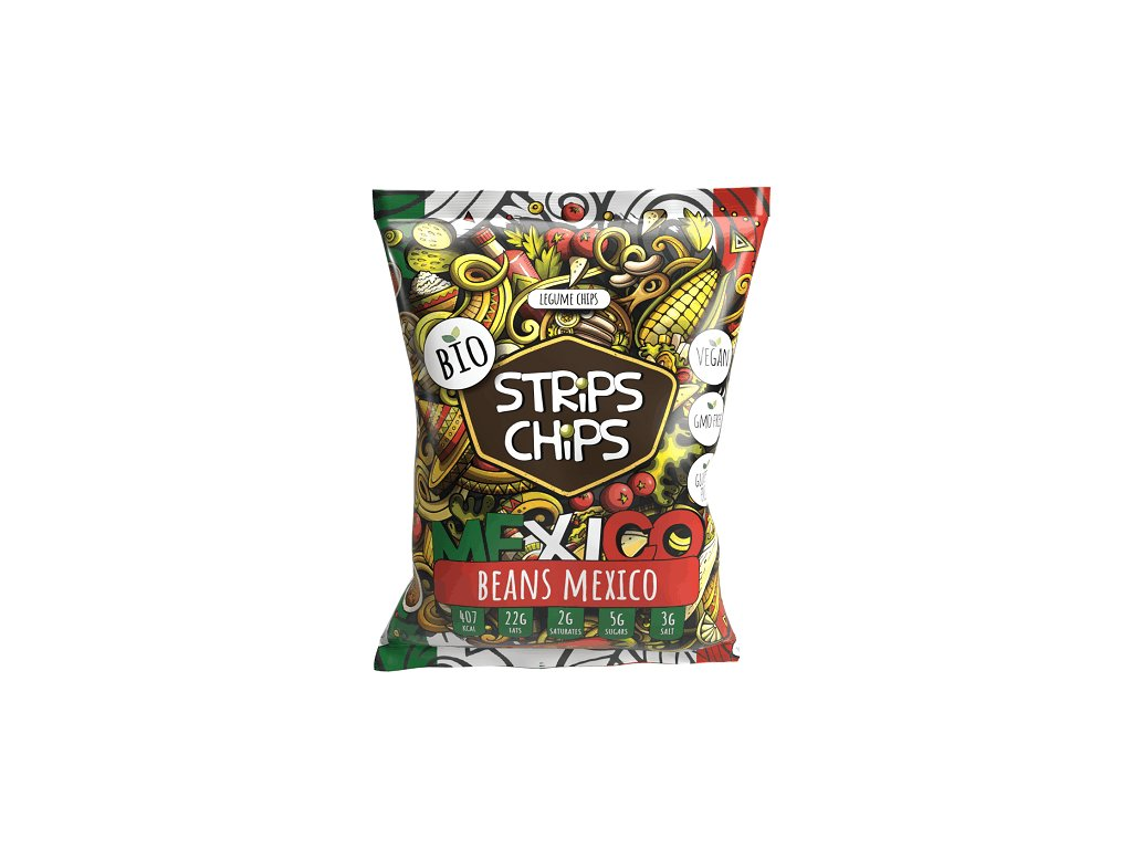 bio strips chips beans mexico