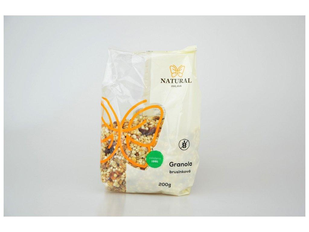 granola brusinkova bez lepku natural jihlava