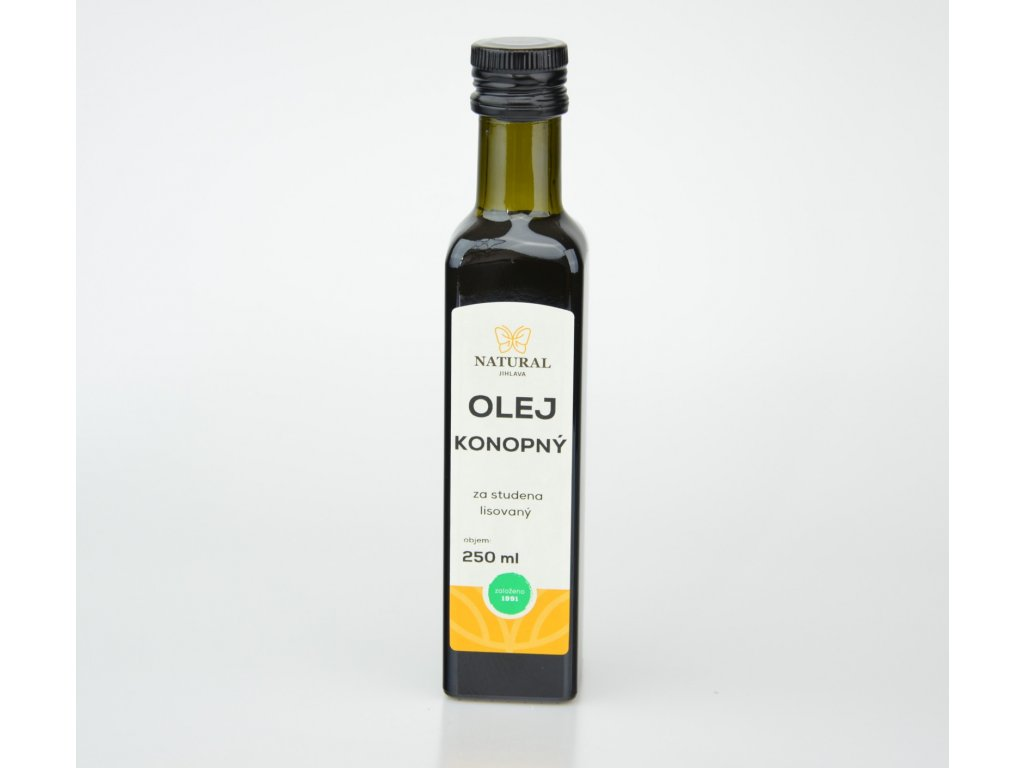 olej konopny za studena lisovany