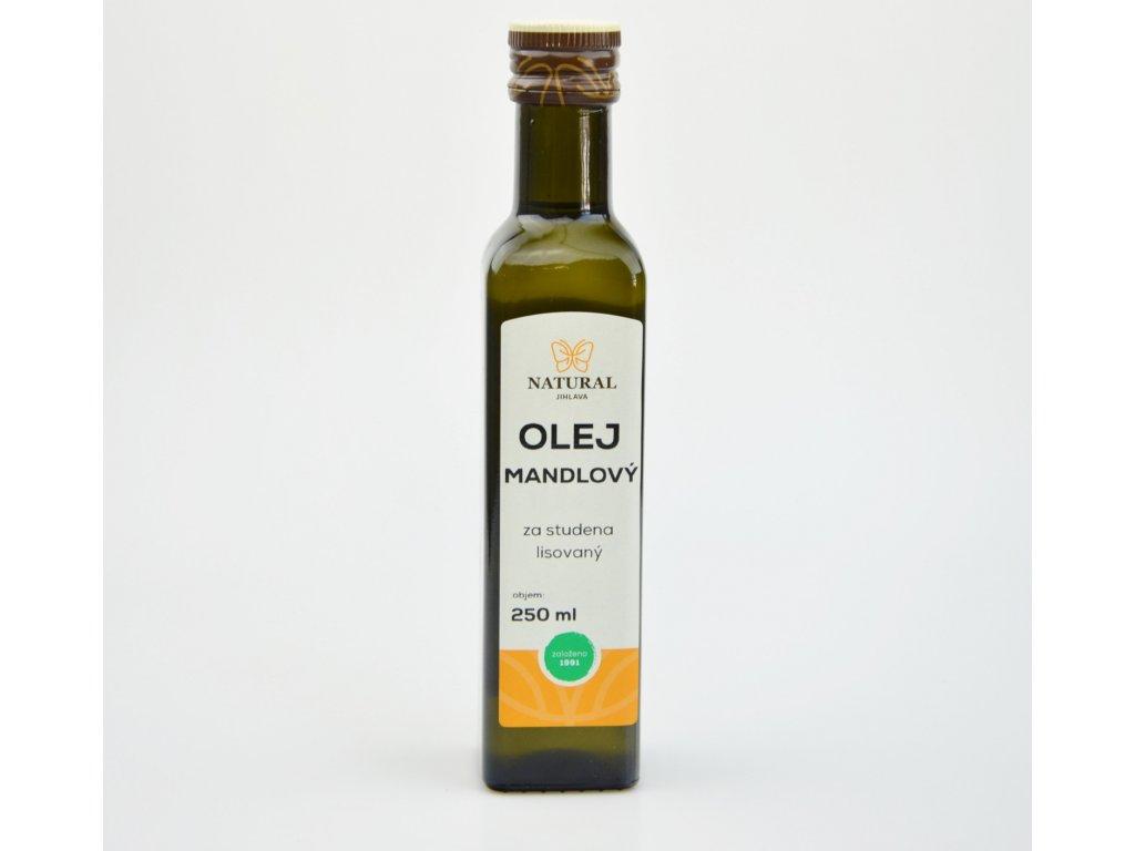 mandlovy olej za studena lisovany
