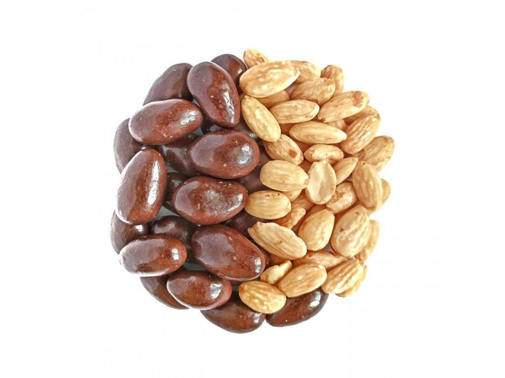 mandle v mlecne cokolade nuttamix