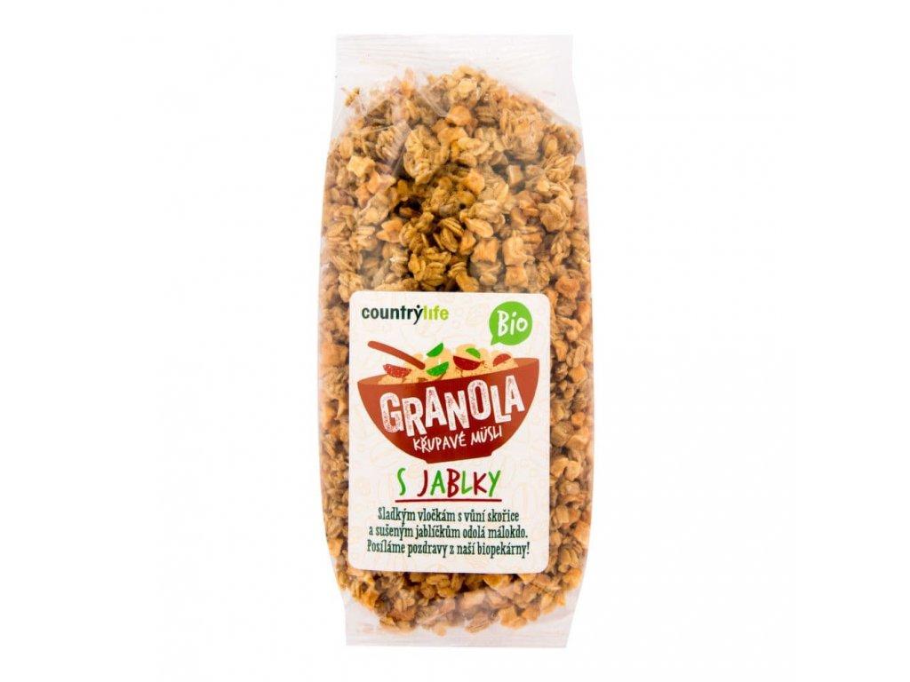 granola krupave musli s jablky