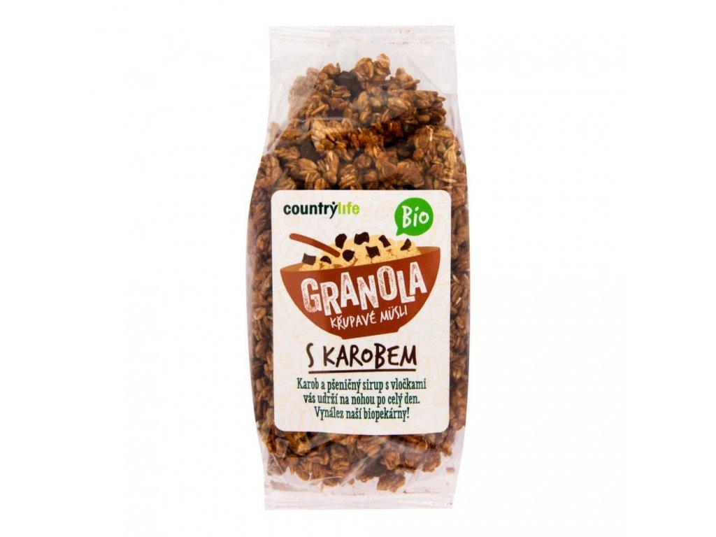 granola krupave musli s karobem