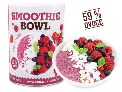 Smoothie bowl Berry banana produktovka CZ