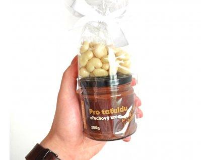 Dárkové balení Arašídy s lískáčema a hořkou čokoládou pro tatínka