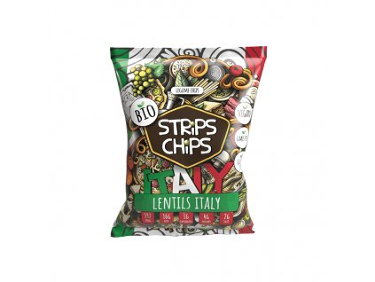 bio strips chips lentils italy